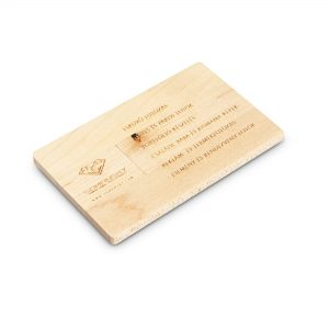 Egyedi fa kártya pendrive