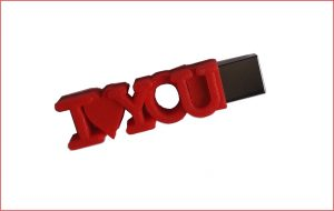 I love you egyedi pendrive