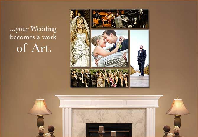 esküvői vászonfotó